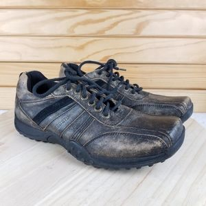 BED STU Distressed Leather Oxford Casual Shoes